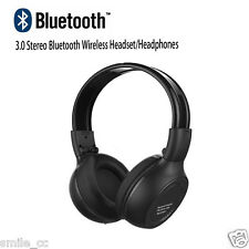 New Stereo Bluetooth Wireless Headset/Headphones With Call Mic/Microphone Black