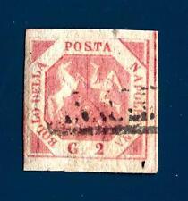 ITALIA - REGNO DI NAPOLI - 18__ - Francobollo 2 gr. rosa chiaro filigrana BT cop