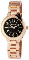Excellanc Damenuhr Schwarz Rosègold Analog Metall Quarz Armbanduhr X1800167001