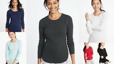 NWT Old Navy Slim-Fit Thermal Tee Shirt Women Soft Waffle Knit Women S M L XL