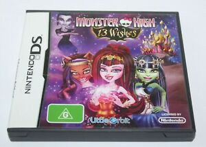 Nintendo DS Monster High 13 Wishes Game Complete Aus Release PAL