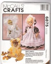 McCall's Crafts Pattern 6875 Pretty Baby Doll Clothes