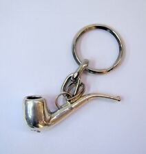 Silver Pipe Key Chain