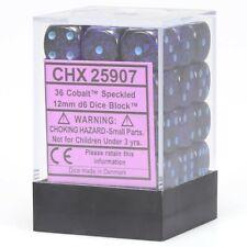 CHESSEX SPECKLED DICE COBALT 12mm 36 D6 DICE SET MTG POKEMON WARHAMMER