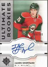 JAMES SHEPPARD 2007-08 UD Ultimate Collection Rookie Autograph #/399 Minnesota