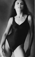 ORIGINAL 1970-80's AMATEUR  B&W PIN-UP ART PHOTO ~ SEXY LONG-HAIRED BEAUTY