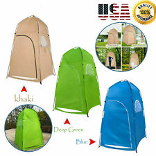 1-2 Person Portable Pop-Up Toilet Shower Tent Changing Room Camping Shelter V6Q7