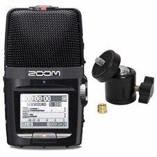 Zoom H2n mobiler Handy Audio-Recorder + Kugelgelenk Stativ-Adapter