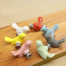 Retro Bird Ceramic Door Knob Children Room Suitable Furniture Home Pull Handle X