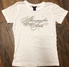 Youth Girls Abercrombie L Signature Shirt White