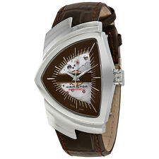 Hamilton Ventura Automatic Brown Skeleton Dial Mens Watch H24515591