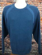 Tommy Bahama Men's XL Sweater Crewneck Long Sleeve Solid Blue Vintage