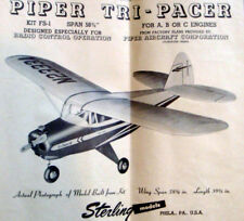"TRI-PACER PLANS + PARTS PATTERNS for 58"" Sterling Model Airplane RC or UC Model"