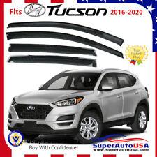 Fits Hyundai Tucson 2016-2020 OE STYLE Smoked Window Visor Rain Guard Vent Shade