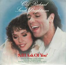 SARAH BRIGHTMAN  All I Ask Of You  rare promo 45 with PicSleeve  CLIFF RICHARD