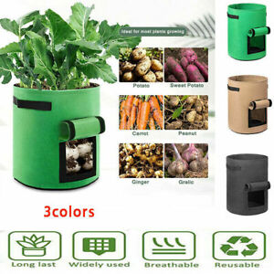 Flower Vegetable Grow Bags Tomato Plant Bag Home Garden Planter container