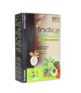 Indica easy Shampoo Based Black Hair Colour with 5 Herbs
