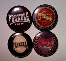 "4 x Perkele 1"" Pin Button Badges (oi punk streetpunk our music forever no shame)"