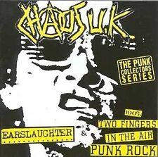 Chaos UK - Earslaughter/100% Two Fingers in the Air Punk Rock (CD,1998,Anagram)