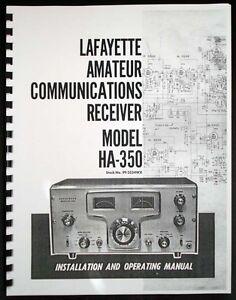 Lafayette HA350 HA-350 Amateur Communications Receiver Operating Manual