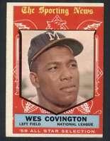 1959 Topps #565 Wes Covington VGEX Braves AS 57494