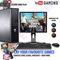 WINDOWS 10 GAMING COMPUTER PC INTEL CORE 2 QUAD 8GB RAM 1TB HDD GTA V Minecraft