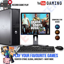 WINDOWS 10 GAMING COMPUTER PC INTEL CORE 2 QUAD 8GB RAM 1TB HDD GTA V Minecraft