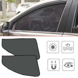 4x Magnetic Car Window Sun Shade Cover Mesh Shield UV Protection Accessories