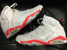 Preowned - Air Jordan 6 Retro White / Infrared - Black Size 11 384664-123 VI
