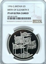 More details for 1996 proof £5 70th birthday queen ngc pf69 great britain