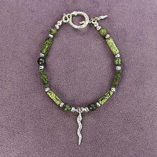 SERPENTINE STONE BRACELET Snakeskin Serpent Snake Totem Tribal Shaman Pagan