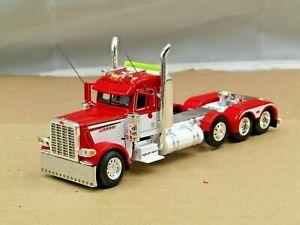Dcp Custom red/white Peterbilt 389 Pride&Class 4 axle heavyhaul tractor 1/64