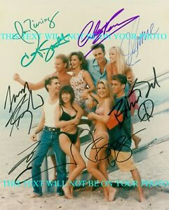 BEVERLY HILLS 90210 FULL CAST SIGNED AUTOGRAPH 8x10 RP PHOTO BH 90210 LUKE PERRY