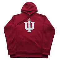 Adidas Hoodie Indiana University Hoosiers Sweatshirt Mens Medium Pullover Red