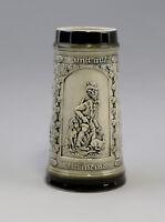 9959171 Porcelana Jarra de Cerveza 1L Sitzendorf Relieve Caza Cazador Restos