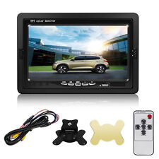 "7"" TFT LCD Digital Color Screen Car Monitor for Backup Rear View Cam DC 12V Pro"