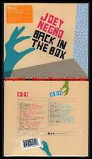 """JOEY NEGRO """"Back In The Box"""" (2 CD) 2007 NEUF"""