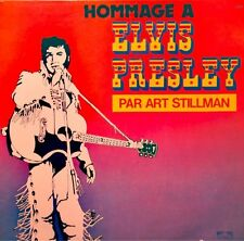 ART STILLMAN hommage a ELVIS PRESLEY LP TRETEAUX all shook up/hound dog VG+