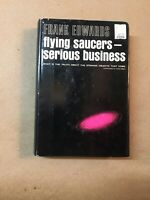 Flying Saucers-Serious Business by Frank Edwards - 1966 1st Edition
