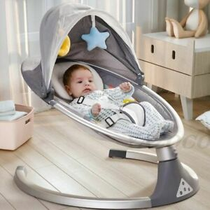 Electric Baby Rocking Chair Safety Cradle Soothing Infant Newborn Sleeping Cute