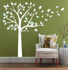 Owls On The Tree Wall Stickers Living Room Bedroom Decor DIY Removable