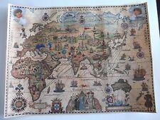 Portugal old Map pilgrimage Fernão Mendes Pinto 1537-1558 in excellent paper.