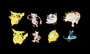POKEMON - ENAMEL BADGES - 7 CHARACTERS TO CHOOSE FROM- PIKACHU, MEW, MEWTWO ETC