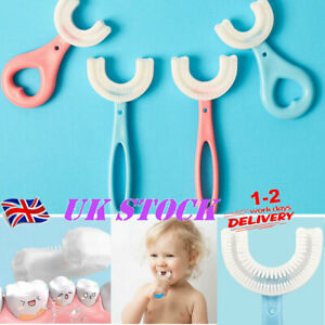 Baby Kids Toothbrush U-shaped Silicone Brush Head Oral Cleaning Teeth 2-12 Year