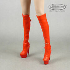 1/6 Phicen, TBLeague, Flirty Girl Sexy Female Red Knee-High High Heel Boots