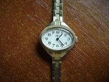 Vintage Wrist Watch LUCH Gold plated AU  women's bracelet Soviet Russian USSR