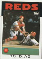 FREE SHIPPING-MINT-1986 Topps #639 Bo Diaz Reds PLUS BONUS CARDS