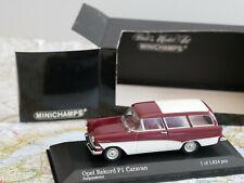 MINICHAMPS OPEL REKORD P1 CARAVAN 1958-60 RED ART.400 043218  DIE-CAST 1:43 NEW