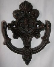 Cast Iron Fleur De Lis Door Knocker Rustic Western Decor Country French Gothic
