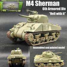 WWII US M4 Sherman 6th Armored Div hell with it 1/72 no diecast Easy model